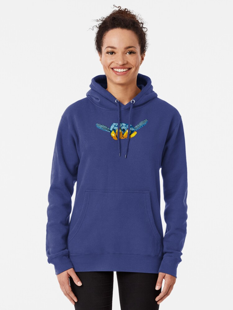 Alternate view of Turtle Hand Signal Pullover Hoodie