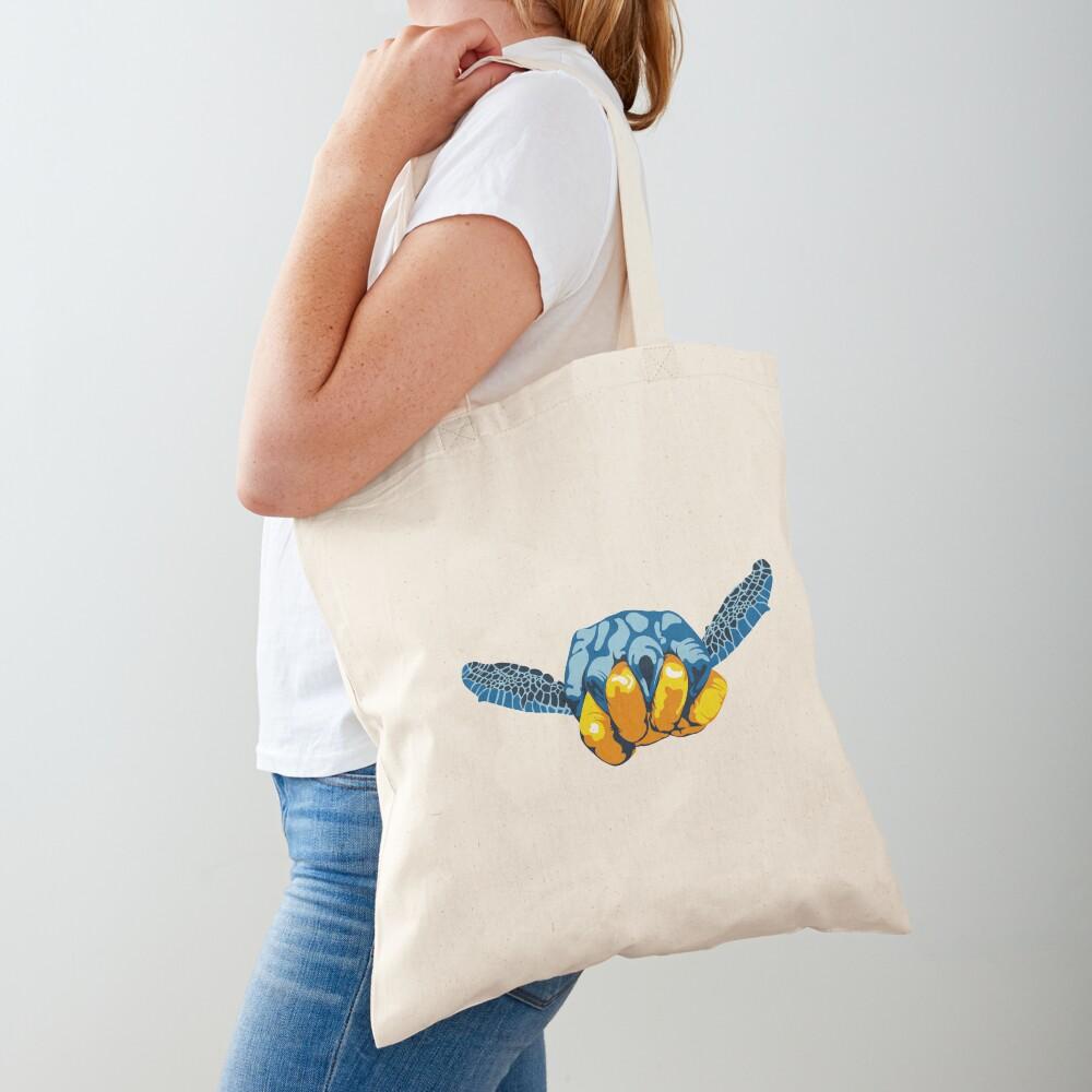 Turtle Hand Signal Tote Bag