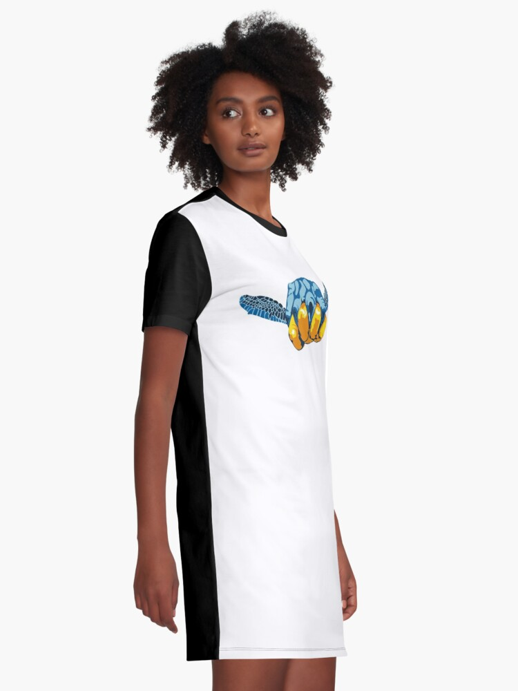 Alternate view of Turtle Hand Signal Graphic T-Shirt Dress