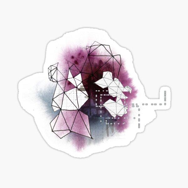 Watercolor Nebula 1 (Bouquet series) Sticker