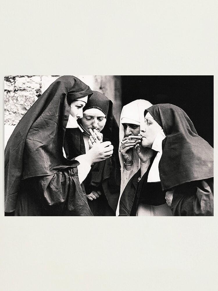 Alternate view of Smoking Nuns Photographic Print