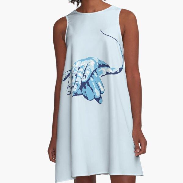 Stingray Hand Signal A-Line Dress