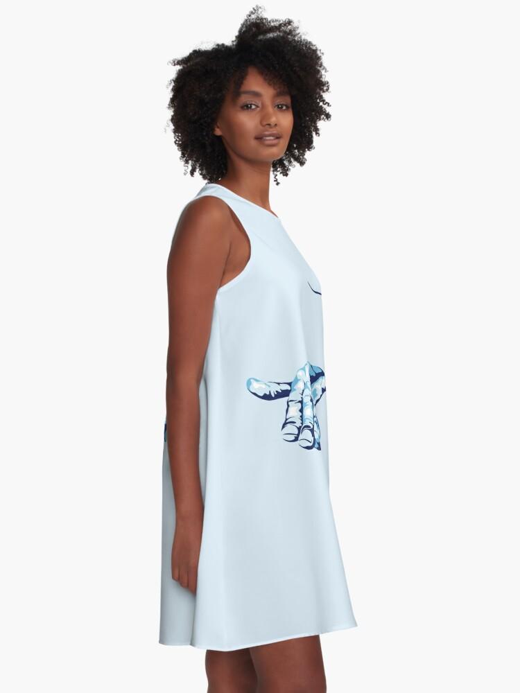 Alternate view of Stingray Hand Signal A-Line Dress