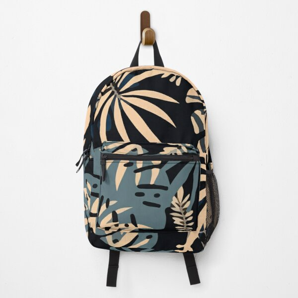Jungle pattern with tropical plants leaves Backpack