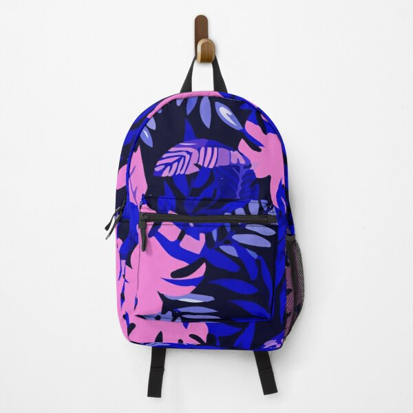 Navy jungle pattern Backpack