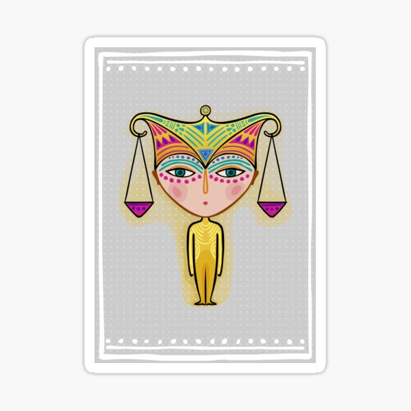 libra zodiac sign Sticker