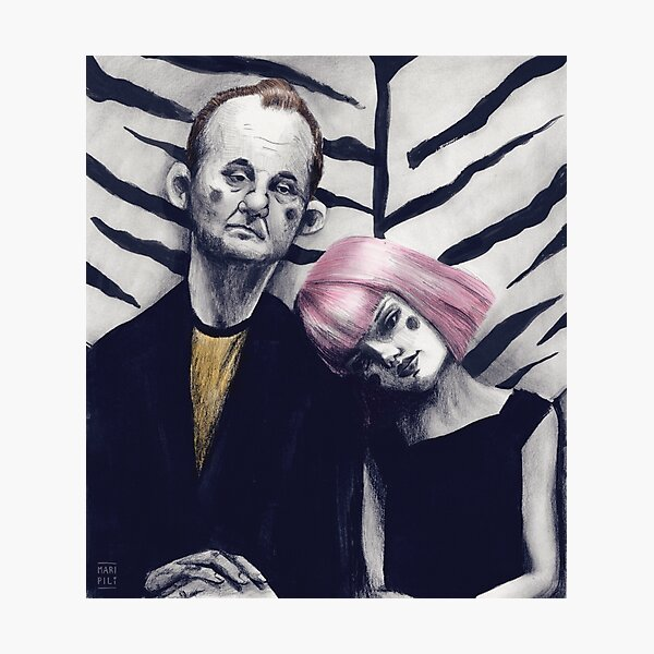 "Fan Art de la película ""Lost in Translation"" Lámina fotográfica"