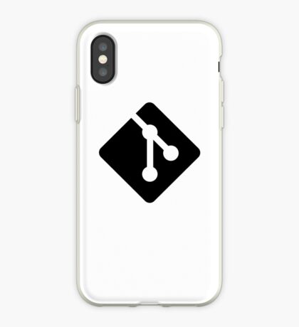 Git for iPhone - Black logo iPhone Case