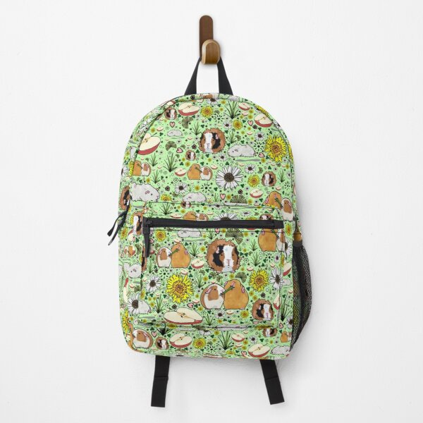Guinea Pigs in Green  Backpack
