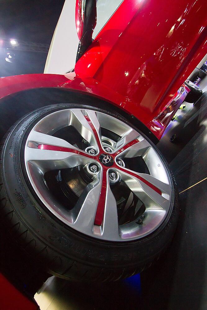 Hyundai Veloster Wheel [ Print & iPad / iPod / iPhone Case ] by Mauricio Santana