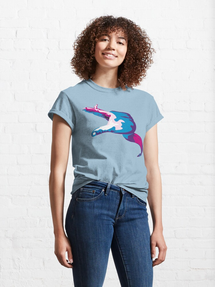 Alternate view of Moray Eel Hand Signal Classic T-Shirt