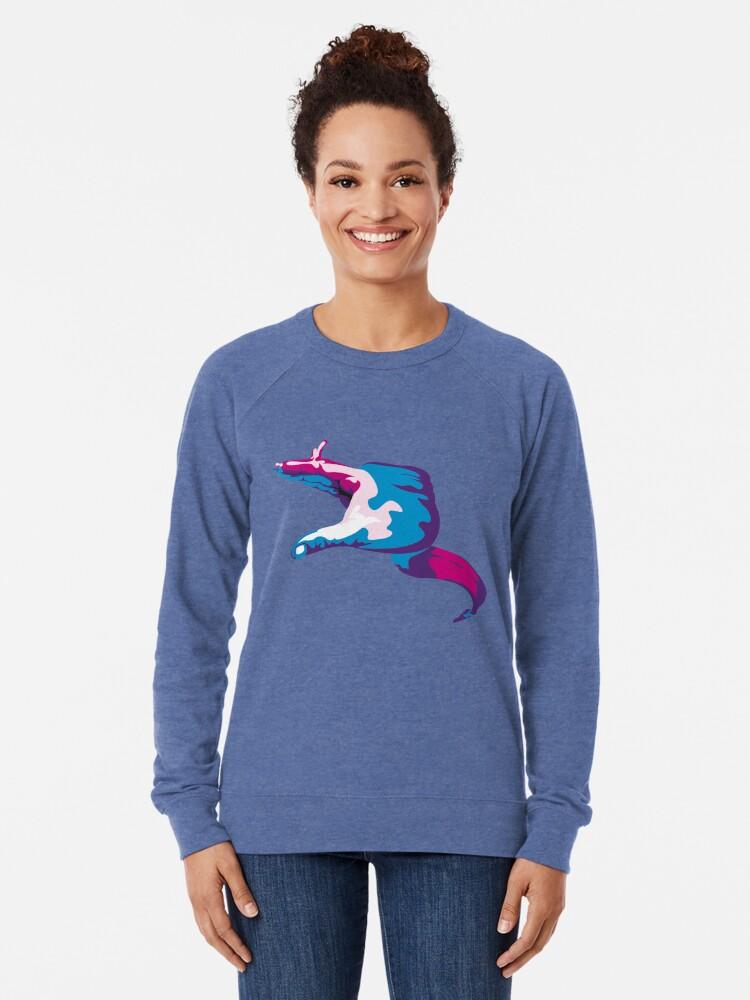 Alternate view of Moray Eel Hand Signal Lightweight Sweatshirt