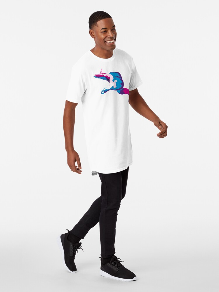 Alternate view of Moray Eel Hand Signal Long T-Shirt
