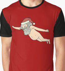 Rick & Morty - Giant Naked Sky Santa! Graphic T-Shirt