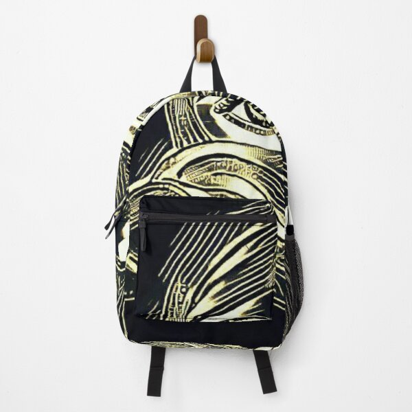 Graphic Girl portrait: masked beauty Backpack
