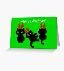 Santa's little helpers Christmas Card Greeting Card