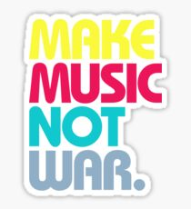 Make Music Not War (Venerable) Sticker