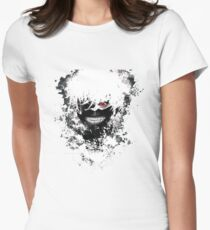 Tokyo Ghoul - The Eyepatch Ghoul (White Version) Womens Fitted T-Shirt