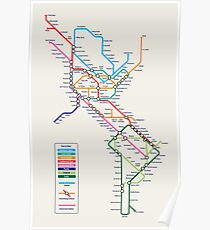 Americas Metro Map Poster