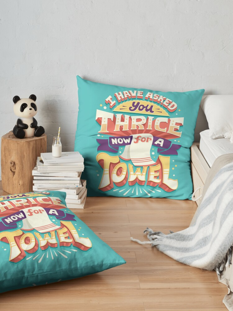 Alternate view of I have asked you thrice  Floor Pillow