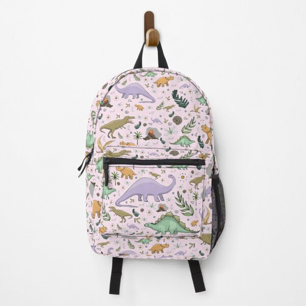 Dinosaurs in Pink Backpack