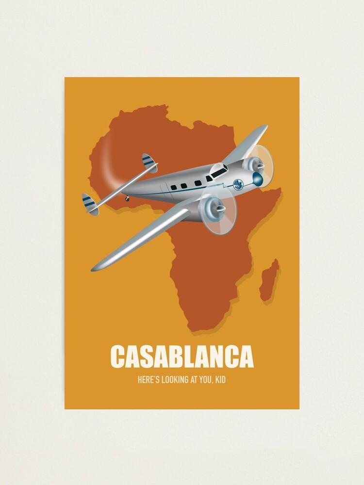 Alternate view of Casablanca - Alternative Movie Poster Photographic Print