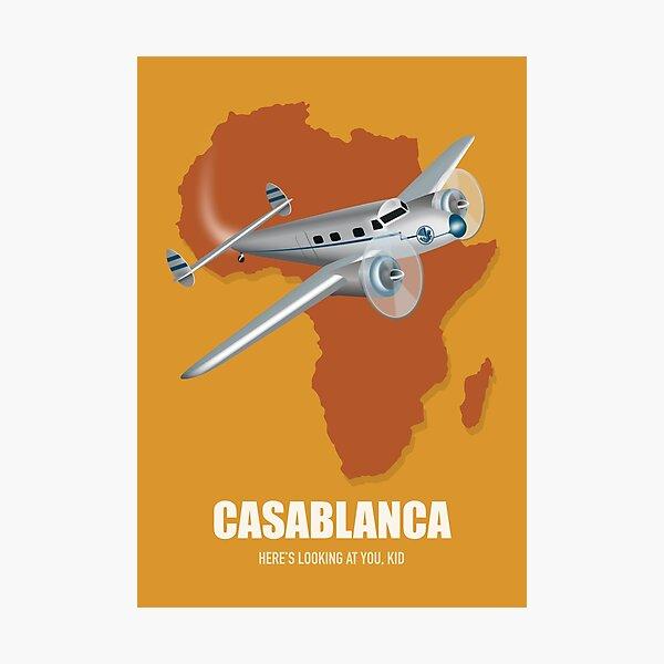 Casablanca - Alternative Movie Poster Photographic Print