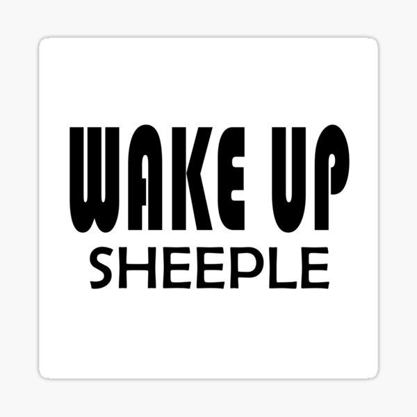 Wake Up Sheeple - Truther Sticker
