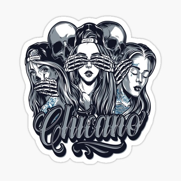 Chicano Style Stickers Redbubble