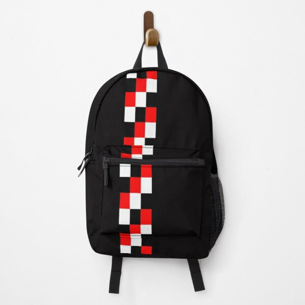60s Geometric Graphic T-shirts Red Black and white Backpack