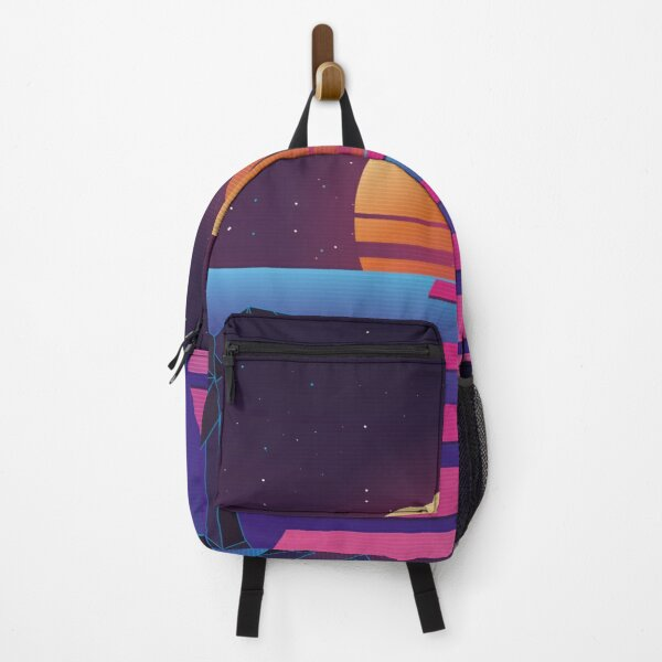 Beach Sun Road Retro Landscape Neon Backpack