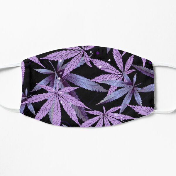 Purple Pastel OG Kush Dream Haze Cannabis Flat Mask
