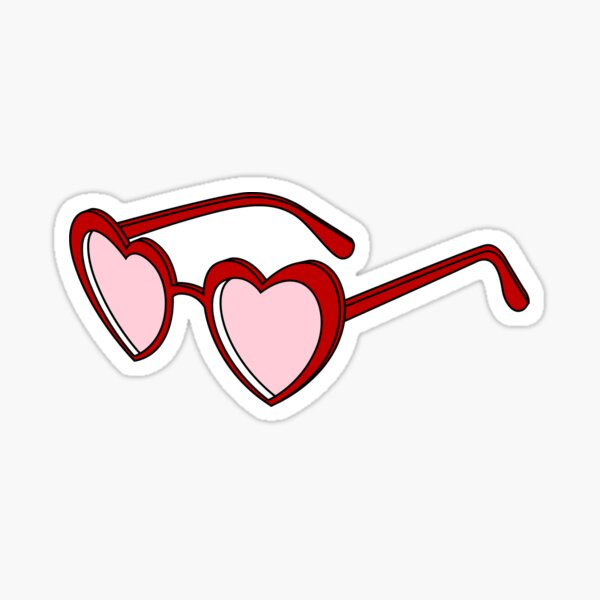 Heart-Shaped Sunglasses  Sticker