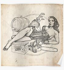 Father's Day Pinup Sketch Poster