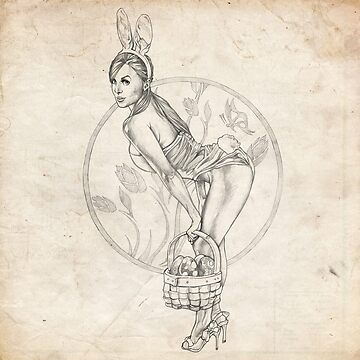 Easter Pinup Girl Sketch by brentms