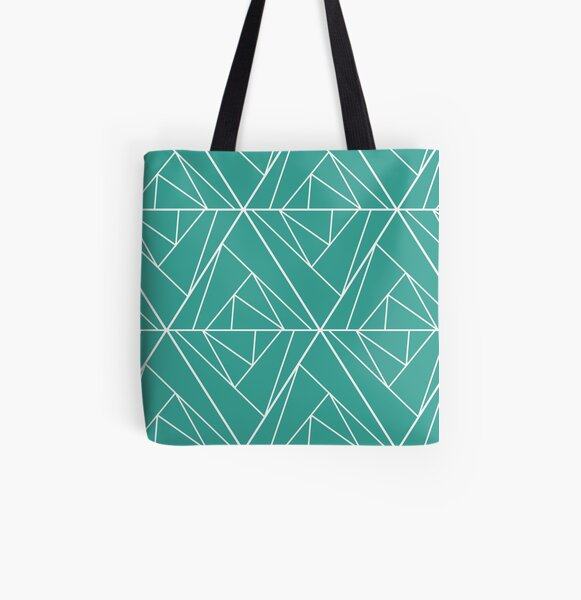 Quirky Geometry All Over Print Tote Bag