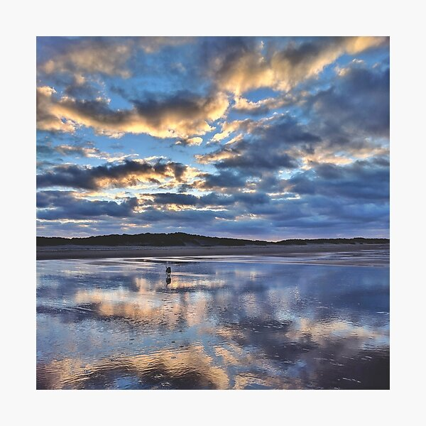 Blue and orange clouds Photographic Print