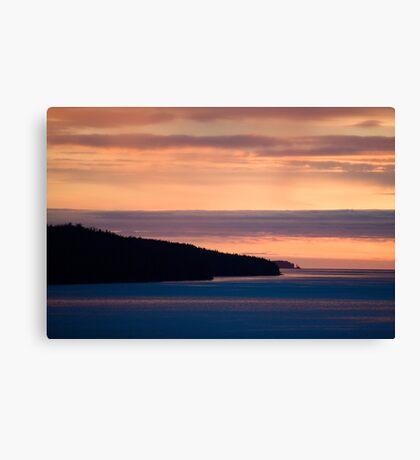 Inside Passage - Sunset Canada Coast Canvas Print