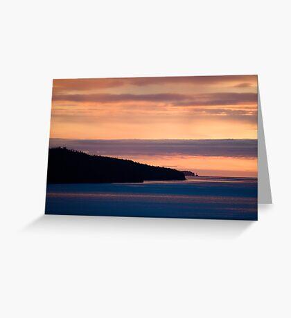 Inside Passage - Sunset Canada Coast Greeting Card