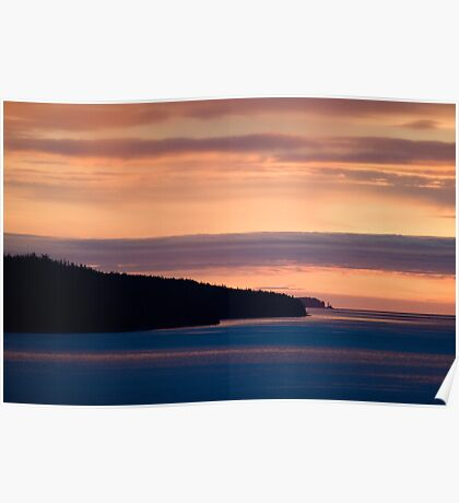 Inside Passage - Sunset Canada Coast Poster