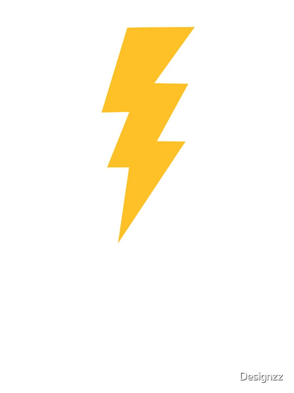 Yellow Flash Lightning Bolt By Designzz