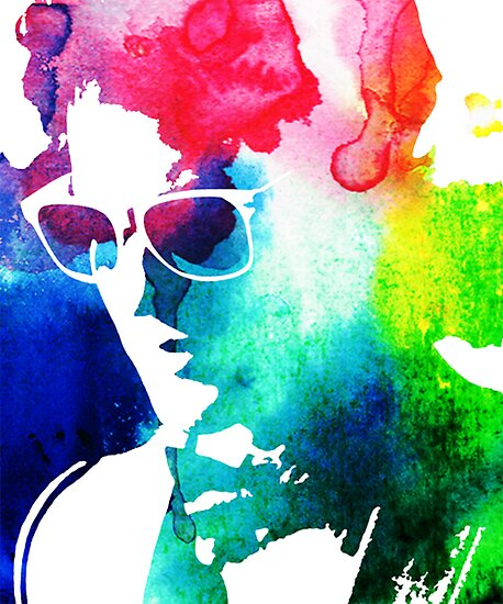 rainbow glasses profile by Catherine Ostholthoff