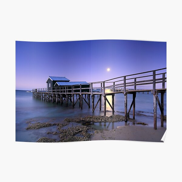 Moonrise at Shelley Beach - Portsea Poster