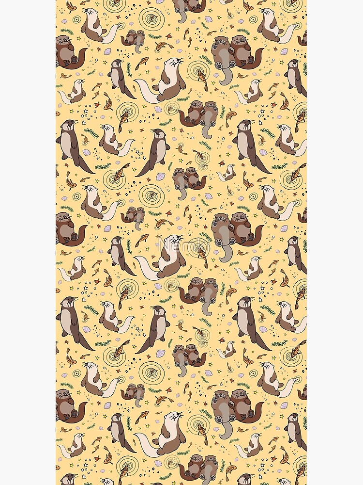 Otters in Yellow by Nemki
