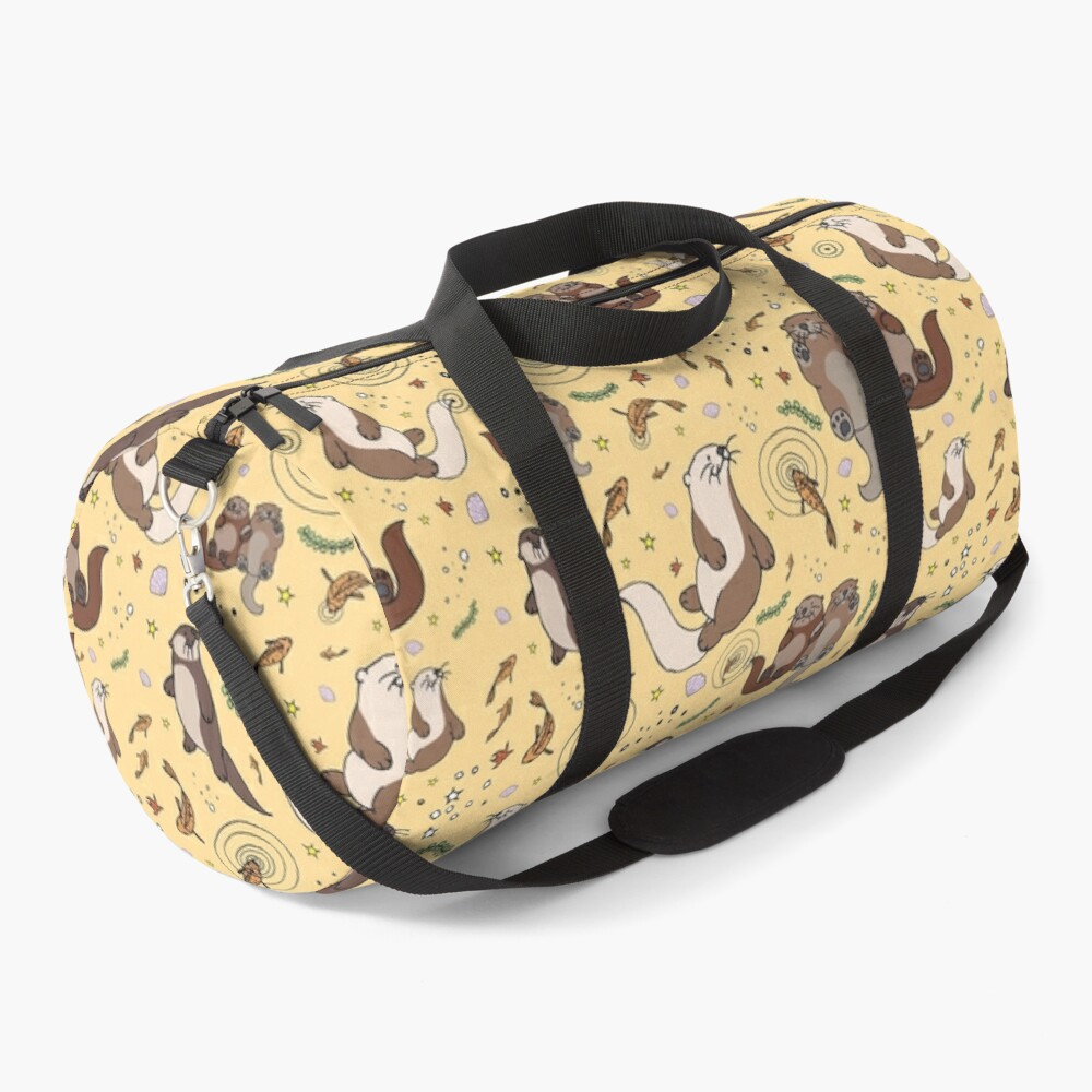 Otters in Yellow Duffle Bag