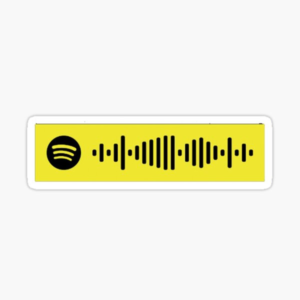 """""""hey there delilah"""" spotify code Sticker"""