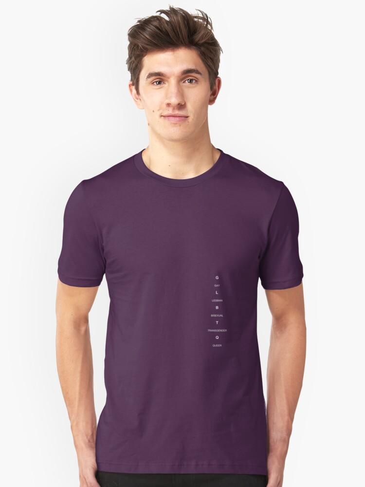 GLBTQ Label - dark Unisex T-Shirt Front
