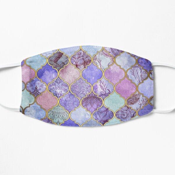 Royal Purple, Mauve & Indigo Decorative Moroccan Tile Pattern Flat Mask