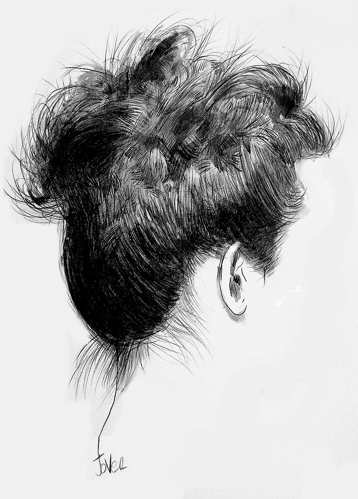 her hair by Loui  Jover
