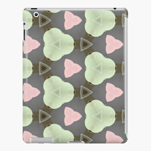 Nice pastel pink and green pattern iPad Snap Case